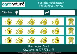 Tarjeta fidelización Peluqueria Canina