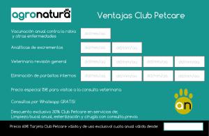 Tarjeta Club Petcare Agronatura