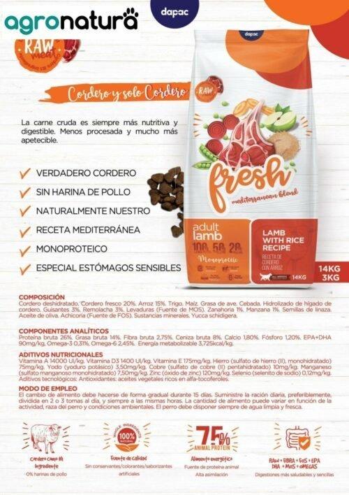 ANC Fresh Adult Complet Cordero y Arroz saco_agronatura