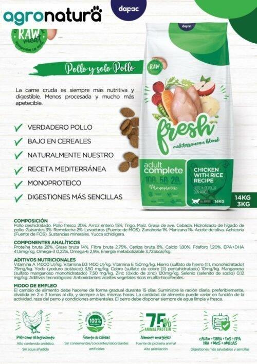 ANC Fresh Adult Complet Pollo y Arroz saco_agronatura