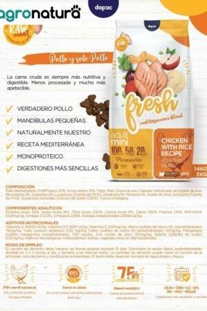 ANC Fresh Adult Mini Pollo y Arroz saco_agronatura
