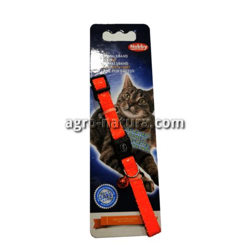 Collar gato peces neon nobby naranja