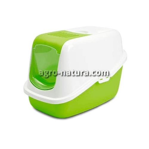 Aseo para gatos NESTOR JUMBO color verde manzana. 56x39x38.5cm