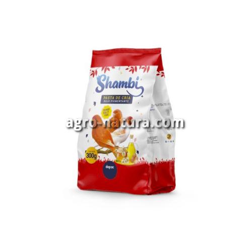 SHAMBI Pasta de Cría Roja para aves 300 gr