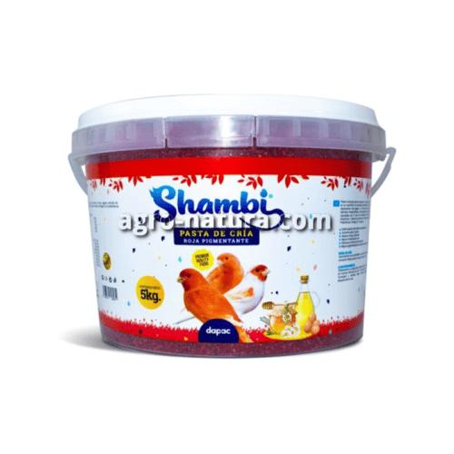 SHAMBI Pasta de Cría Roja para aves bote de 5 kg