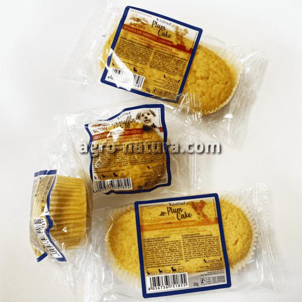 Muffins de bacon o vainilla para perros: dos tamaños diferentes