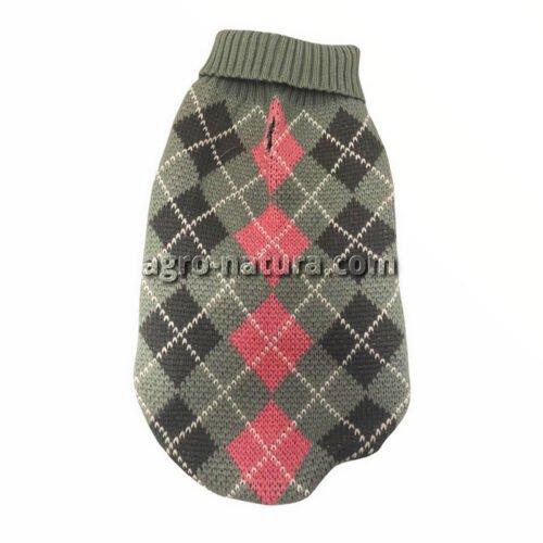 Jersey para perros de punto con estampado de rombos